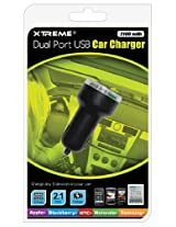 Xtreme 88012 Dual Port USB Car Charger - Retail Packaging - White
