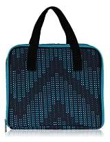 BlueAvocado Mat Case Lunch Bag, Black Dotted Chevron