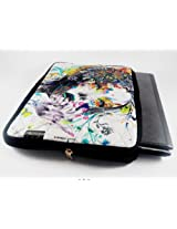Devarshy Limited Edition Digital Print Quilted 17 Inch Laptop Sleeves/Pouche - An Abstract Girl Art
