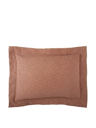 Belle Epoque Rose Coastal Matelassé Pillow Sham (Chocolate)