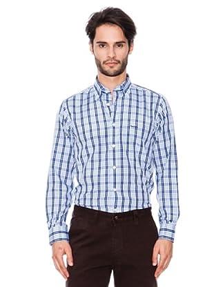 Pierre Cardin Camisa Clásica (Azul)