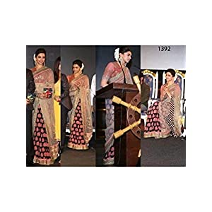 Deepika padukone by sabyasachi saree at kochadaiiyan film audio launch