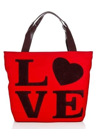 Love Moschino Tasche Lino (Rot)