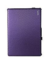 Poetic Strapback Case for iPad Air, Carbon Fiber Purple (840275102517)