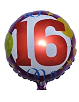 16 Birthday Foil Balloon (Pack of 2)