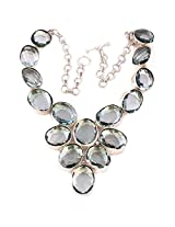 925-Silver Mix Precious Stone Necklace For Women US154