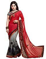 KVS FAB Style Broad Border Work Saree By Kvsfab 1301