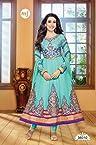 Karishma Kapoor Blue Designer Anarkali Suit