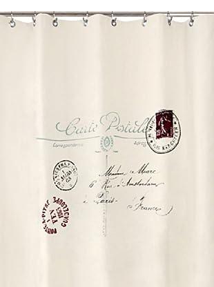 Park B. Smith Postale Shower Curtain, Natural/Black, 72