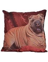 Twisha Bulldog Printed Pillow 12 X 12 X 4 Inch