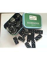 Metal Tin of 28 Wooden Dominoes