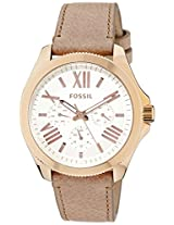 Fossil Analog White Dial Men's Watch - AM4532