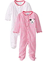 Gerber Baby-Girls' Newborn Two Pack Sleep N Play Zip-Front Sleeper