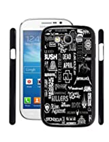 Fuson 2D Printed Word Pattern Designer Back Case Cover for Samsung galaxy Grand Neo - D806