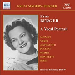 Great Singers: Erna Berger a Vocal Portrait