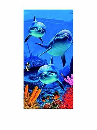 Art Experience Toalla De Playa Di Marino Azul 75 x 152