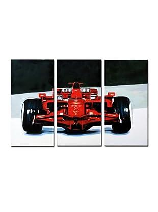 LegendArte Set Pintura al Óleo sobre Linezo 3 Uds. Potenza E Velocità 3 Pannelli