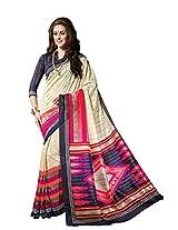 Bhavi Creations Presents Printed Sanganeri Silk Sare Exclusive Foil Print