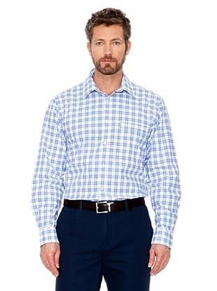 Cortefiel Camisa Cuadros (Azul Marino / Blanco)
