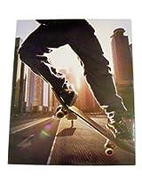 Staples Two Pocket Paper Folder ~ Skateboarding (Summer City Skate)