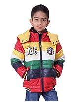 LITTLE BUGS Boy's Full Sleeve Nylon Jacket -Red