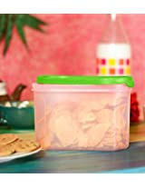 Princeware Easy Store Oval Container Green - 1.2Ltrs