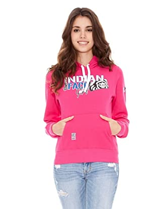 The Indian Face Sudadera Capucha Cerrada (Fucsia)