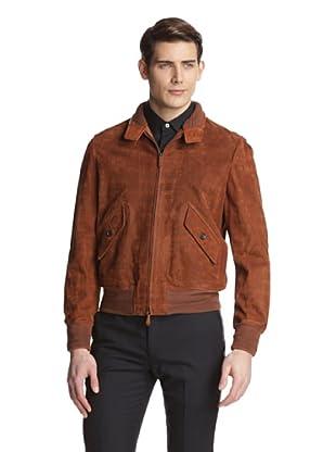 Tom Ford Men's Houndstooth Leather Jacket (Brown)