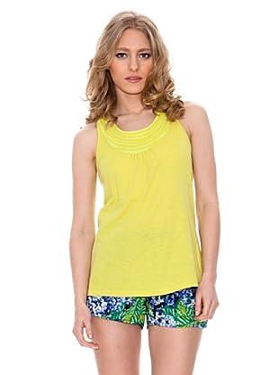 Springfield Camiseta Tirantes Collarín (Amarillo)