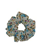 Sarah Floral Rubber Band for Women - White