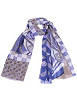 blue digital printed stole