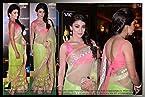 Designer Bollywood Star Shriya Saran Green Net Sari Saree Lehenga TM12
