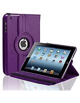 Callmate 360 Degree Rotating Folio Case/ Cover for iPad Mini 2 with Free Screen Guard - Purple