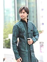 Bodyline Green Men Kurta Pyjama RK1048