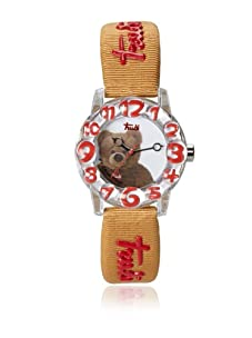 Trudi Kid's Teddy Bear Watch, Rust