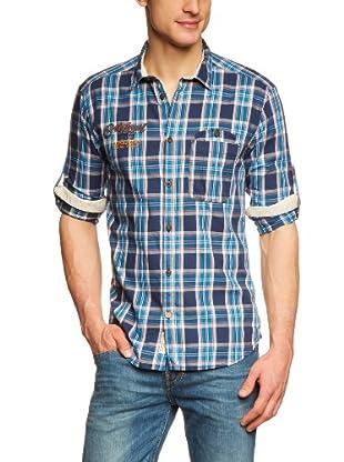 JACK & JONES Camisa (Azul / Turquesa)