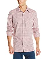 French Connection Men's Colorful Gingham Woven Shirt