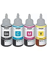 Original Epson Ink All Colors (T6641-B,T6642-C,T6643-M,T6644-Y) - 70 ml each