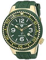 Swiss Legend Men's 21818S-F-GBP Neptune Dark Green Dial Dark Green Silicone Watch
