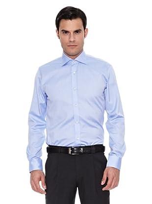 Pedro del Hierro Camisa Moda Vestir Thomas Mason Oxford (Azul)