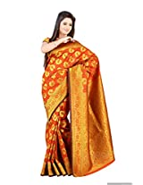 Mimosa Kanchipuram Art Silk Saree Orange colour(3112-R4-ORANGE)