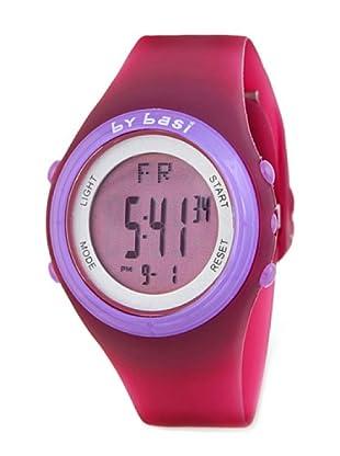BY BASI A0981U02 - Reloj Unisex movi cuarzo correa policarbonato fucsia / lila