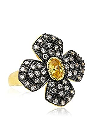 CZ by Kenneth Jay Lane Daisy CZ Multi Color Ring