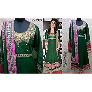 Ravicollection Hot Kareena Anarkali Suit - Green