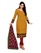 REYA Women cotton Salwar suit dupatta Dress Material
