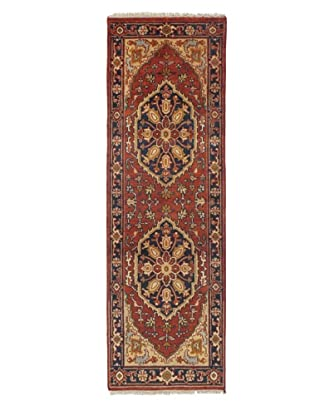 Rug Republic One Of A Kind Indo-Serapi Hand Knotted Rug, Antique Red/Multi, 2' 6
