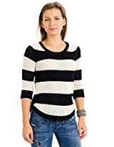 Union Bay Women's Penny Scoop Neck Sweater, Black, Medium