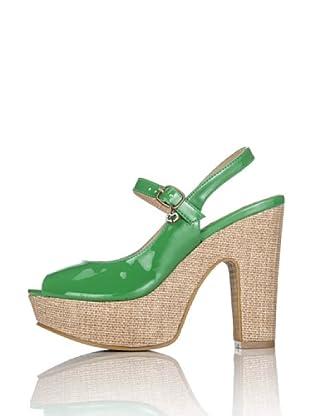 Miss Roberta Sandalo Vernice con Tacco (Verde)