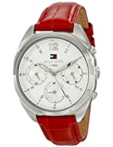 Tommy Hilfiger Womens 1781483 Analog Display Quartz Red Watch