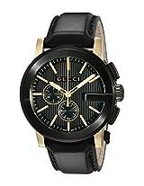 Gucci Mens YA101203 Gucci G - Chrono Collection Analog Display Swiss Quartz Black Watch